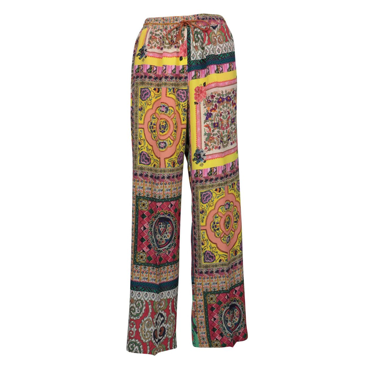 Aloe patterned silk trousers Yellow Etro