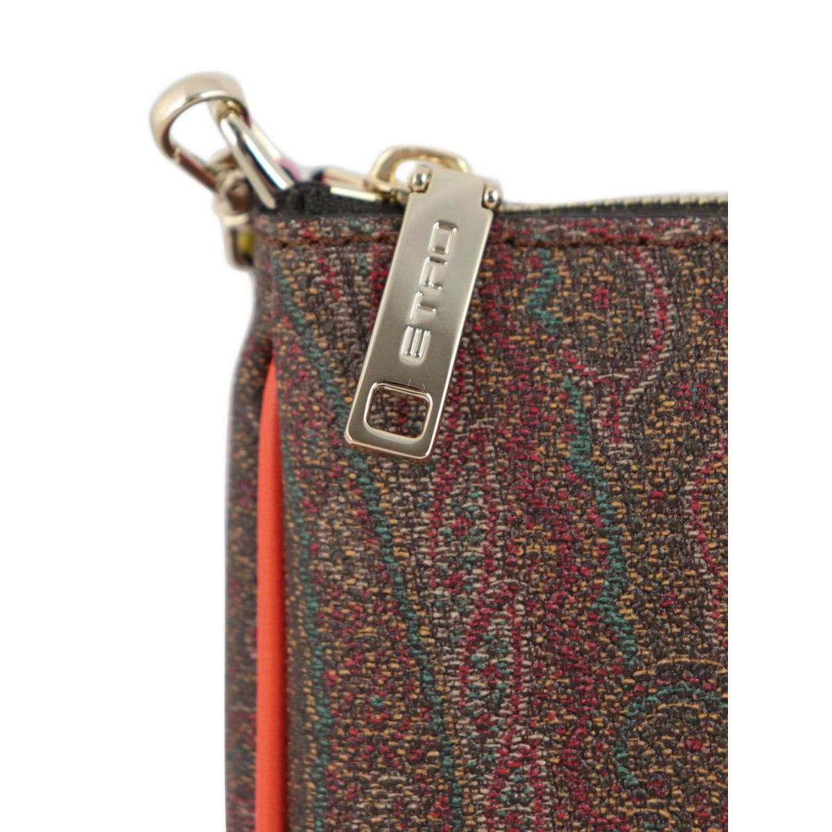 Underarm bag in coated cotton with Paisley print Leather Etro