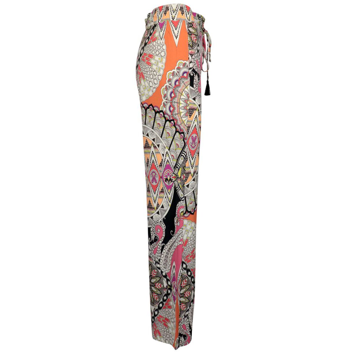 Acacia trousers in fantasy jersey with drawstring waist Coral Etro