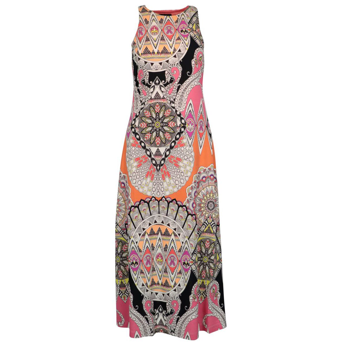 Poppy sleeveless dress in patterned jersey Coral Etro