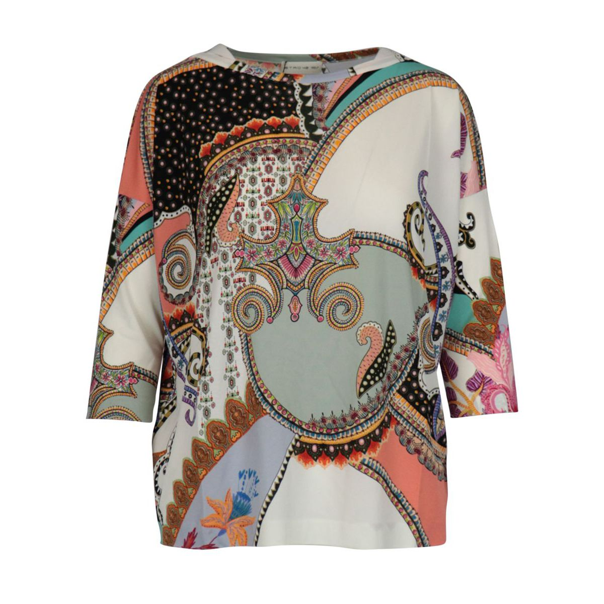 Kuk jersey jersey with three-quarter sleeves Cream Etro