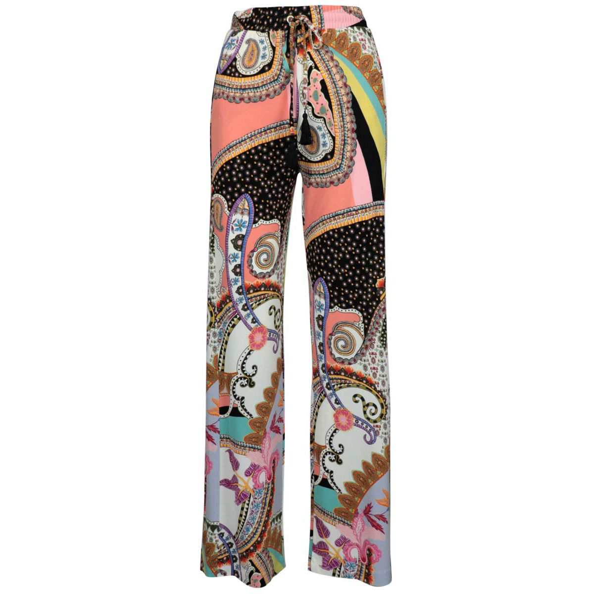 Acacia viscose trousers with paisley print Cream Etro