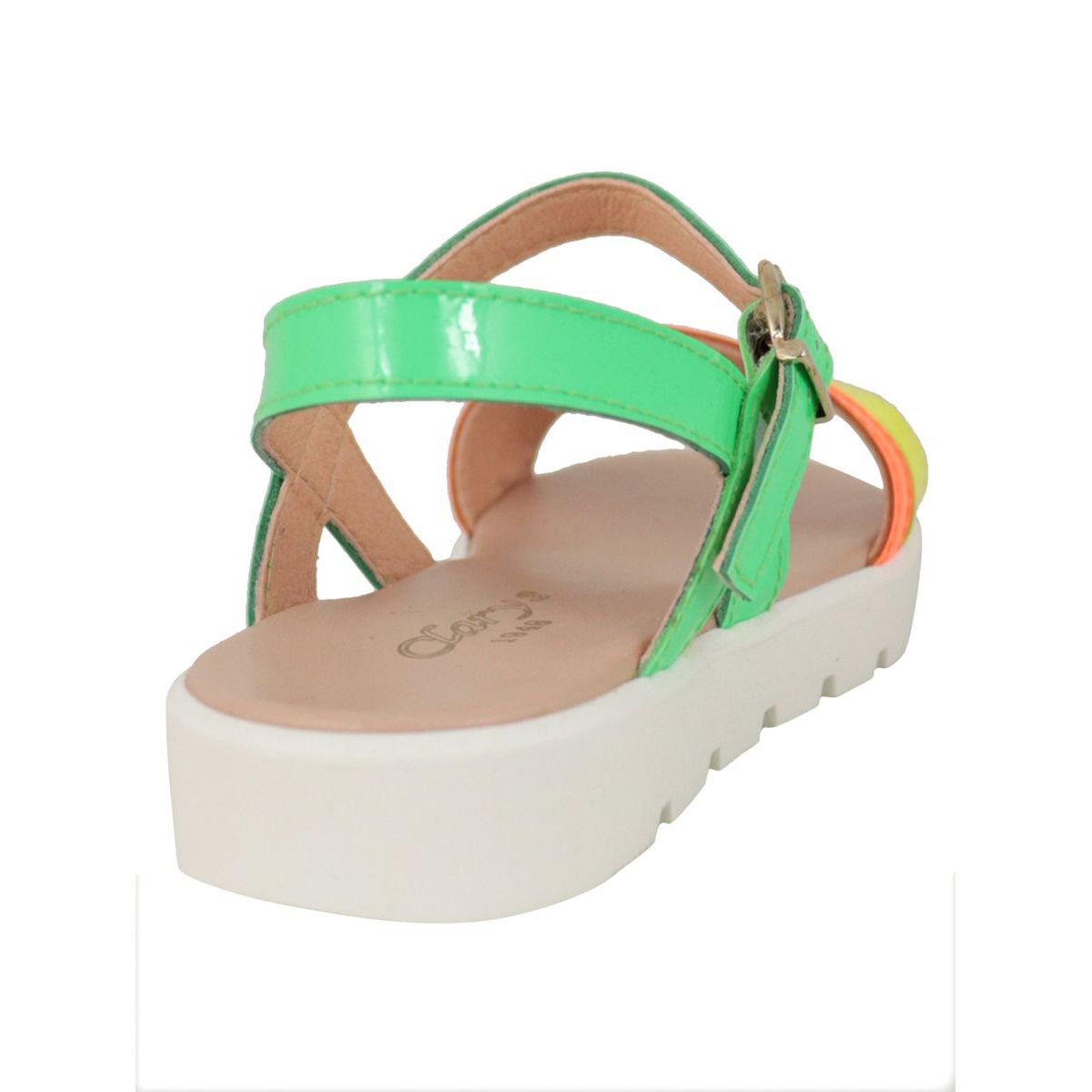 Leather sandal with buckles Multicolor Clarys