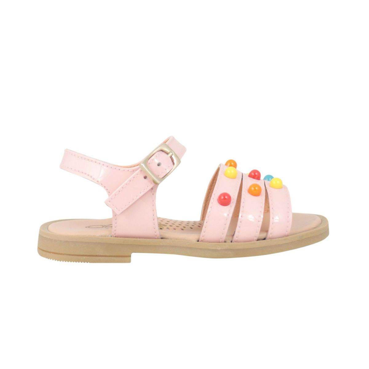 Leather sandals with multicolor inserts Rose Clarys