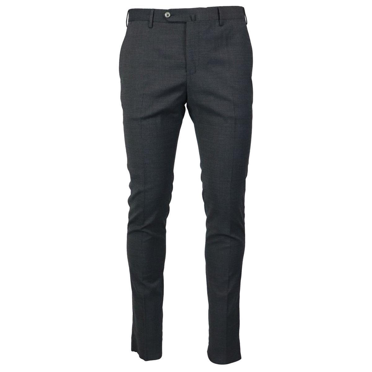Traveler skinny fit trousers in wool blend Dark gray PT TORINO