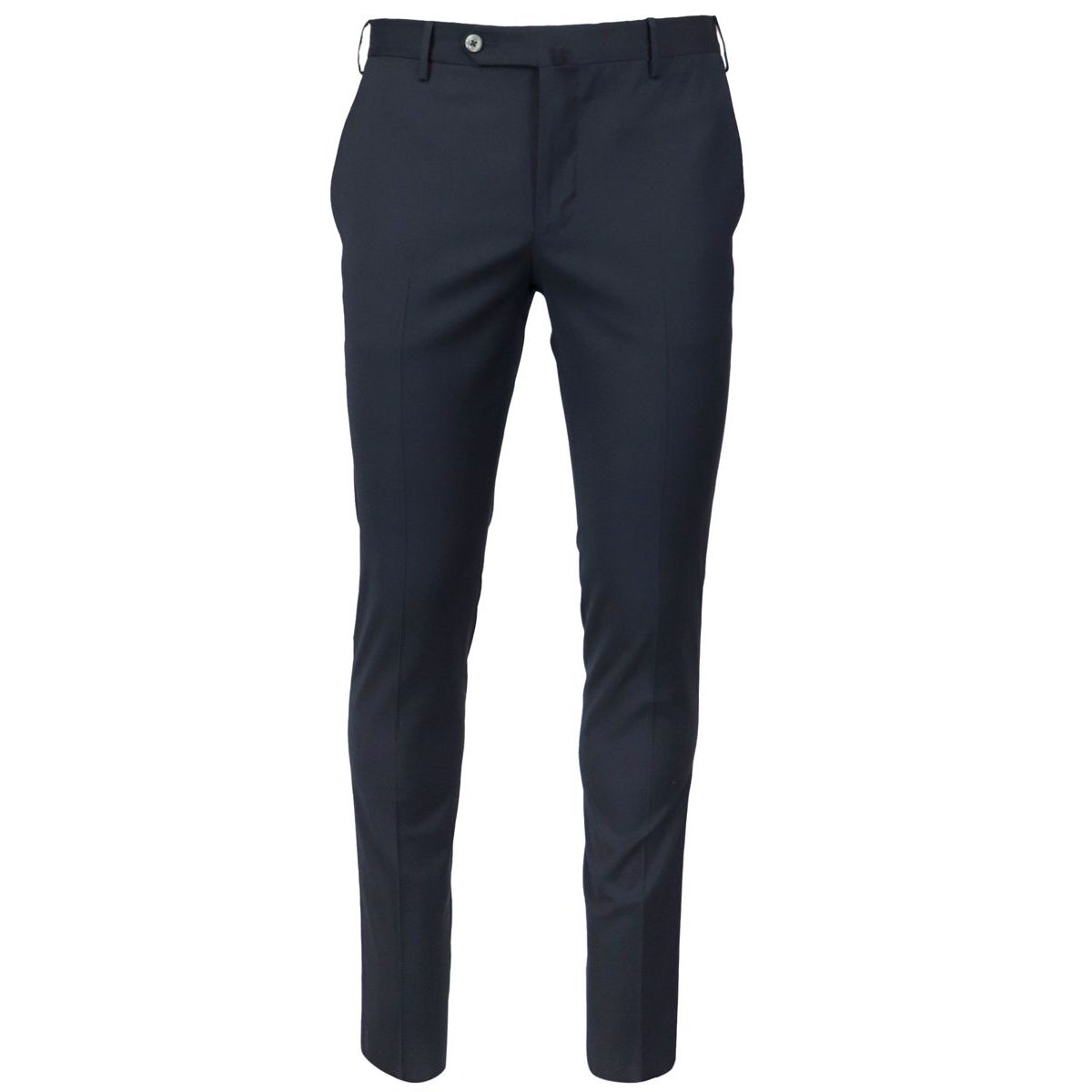 Traveler skinny fit trousers in wool blend Navy PT TORINO