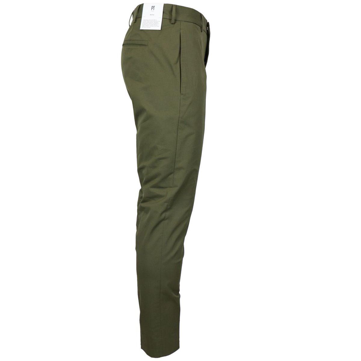 Epsilon Active trousers in cotton Green PT TORINO