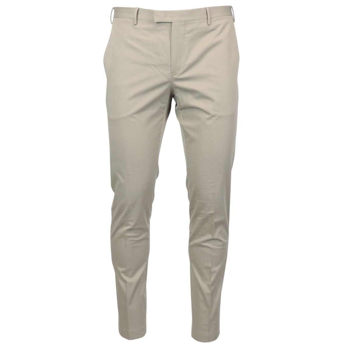 Solid color stretch cotton skinny trousers Beige PT TORINO