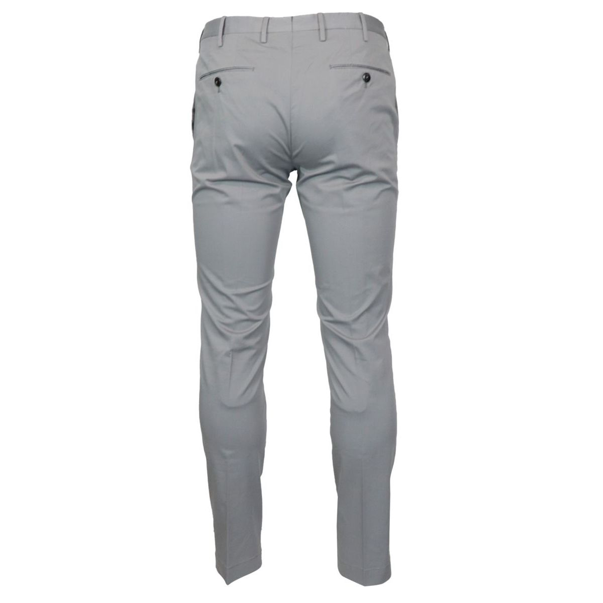 Solid color stretch cotton skinny trousers Grey PT TORINO