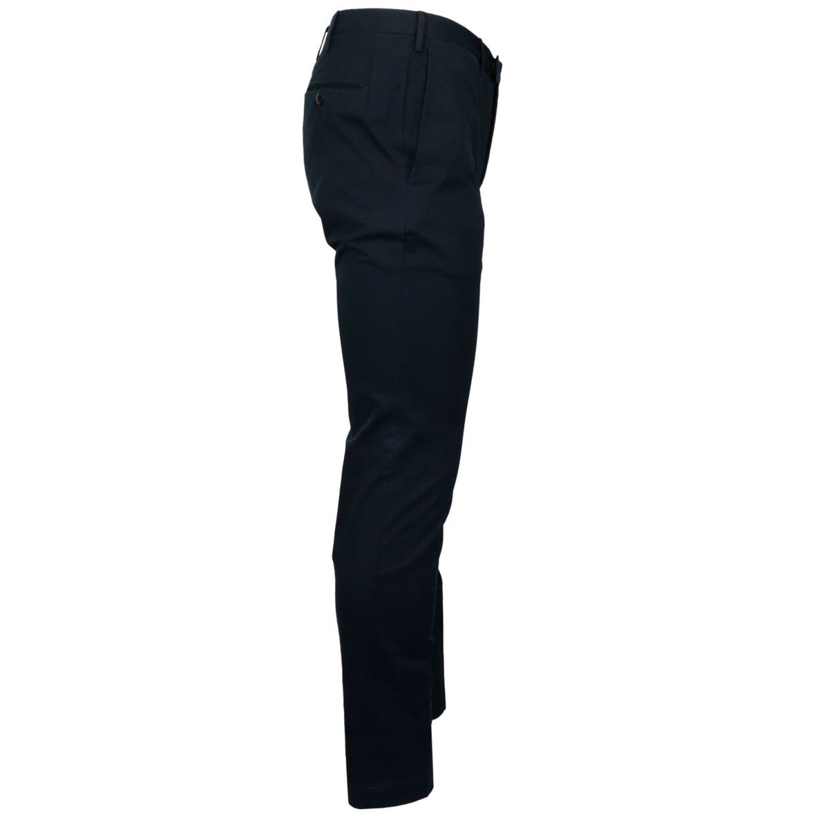 Solid color stretch cotton skinny trousers Navy PT TORINO