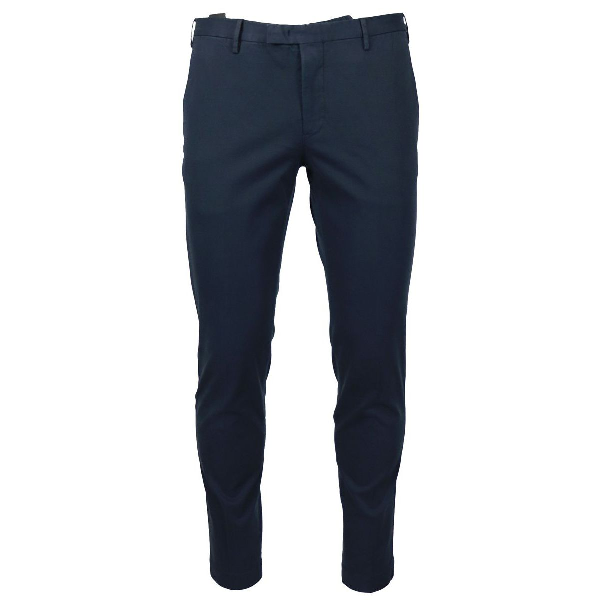 Solid color skinny cotton trousers Blue PT TORINO