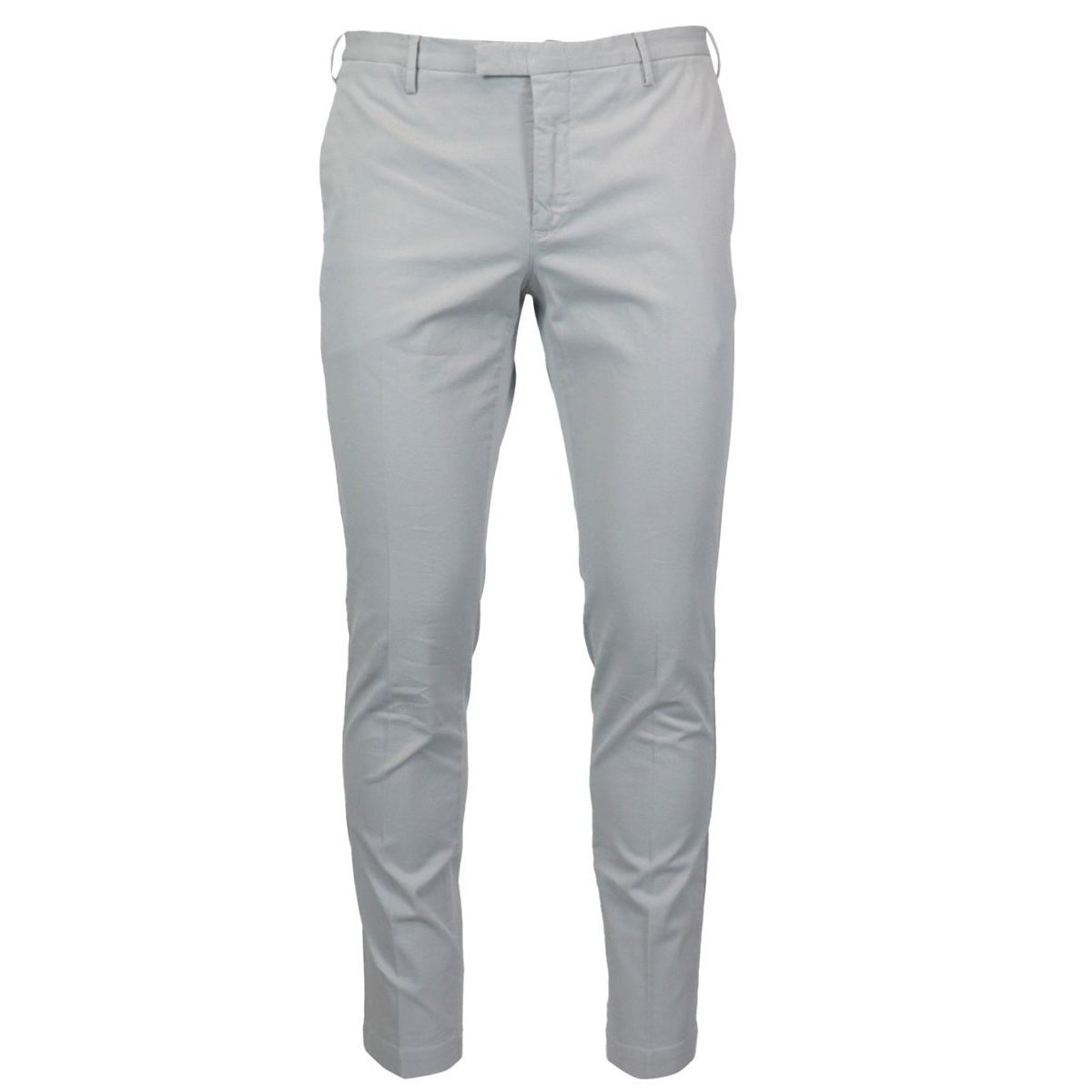 Solid color skinny cotton trousers Light grey PT TORINO