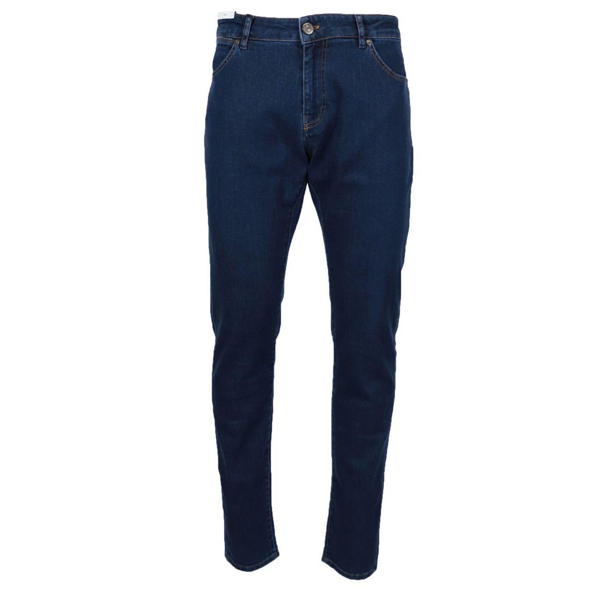 Soul jeans in slim cotton denim Dark denim PT TORINO