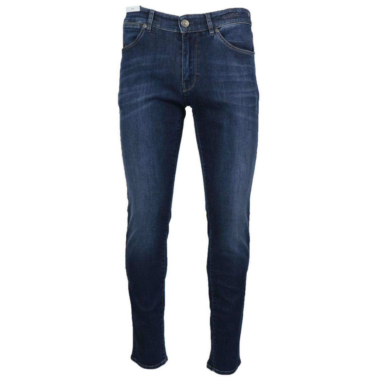 Swing slim jeans in used effect denim 5 pockets Dark denim PT TORINO