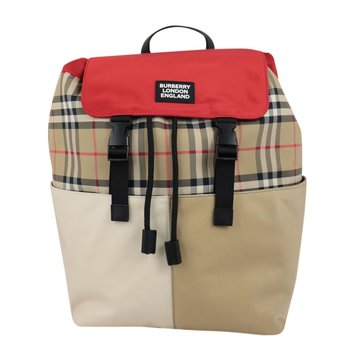 Hayden backpack in check canvas with applied logo Beige check Burberry