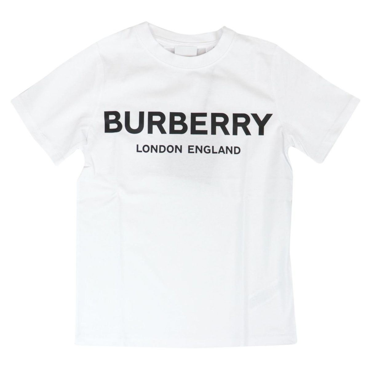 Robbie short sleeve t-shirt in stretch cotton White Burberry