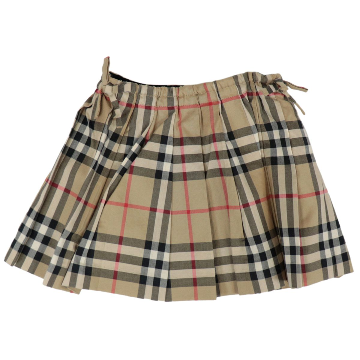 Round skirt in cotton with check print Beige check Burberry