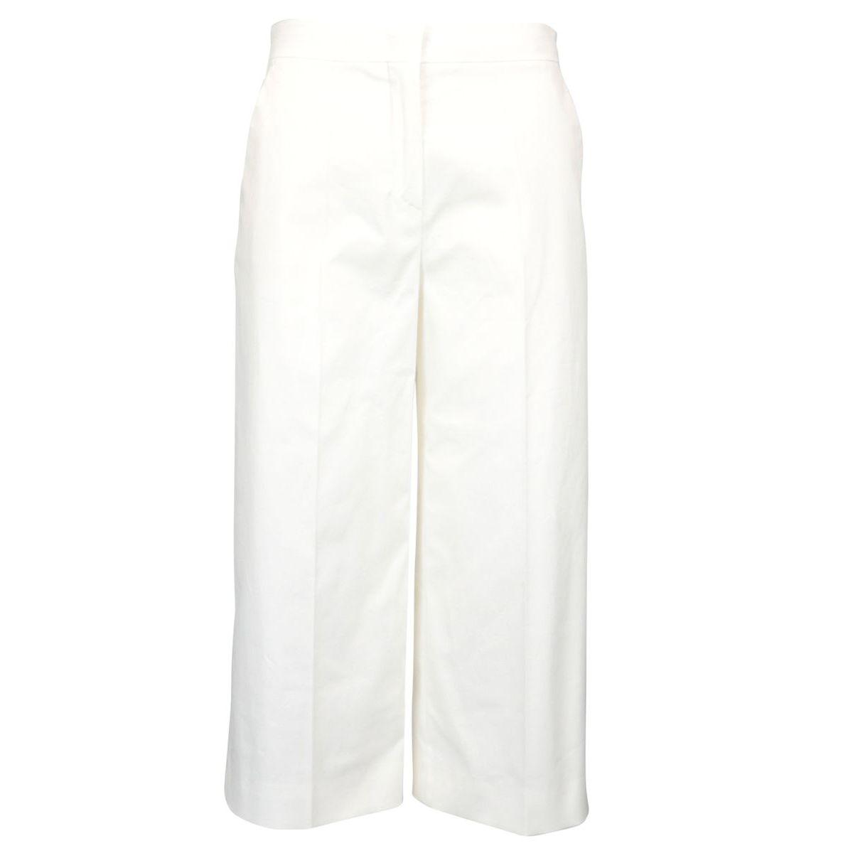Mandare cropped trousers in stretch cotton White MAX MARA STUDIO