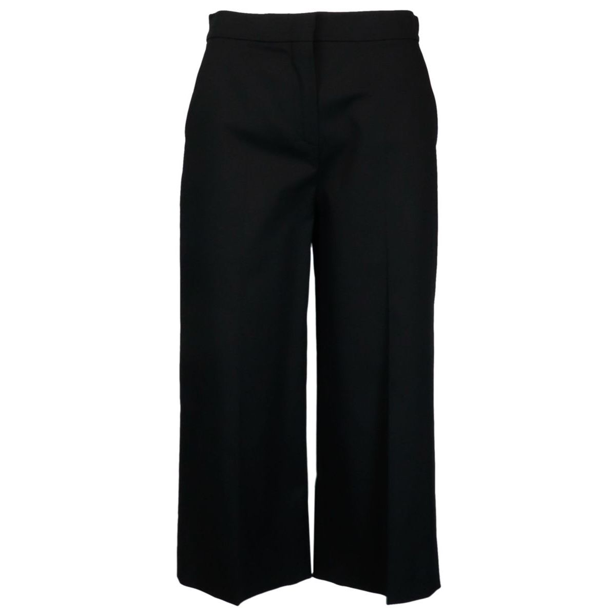 Mandare cropped trousers in stretch cotton Black MAX MARA STUDIO