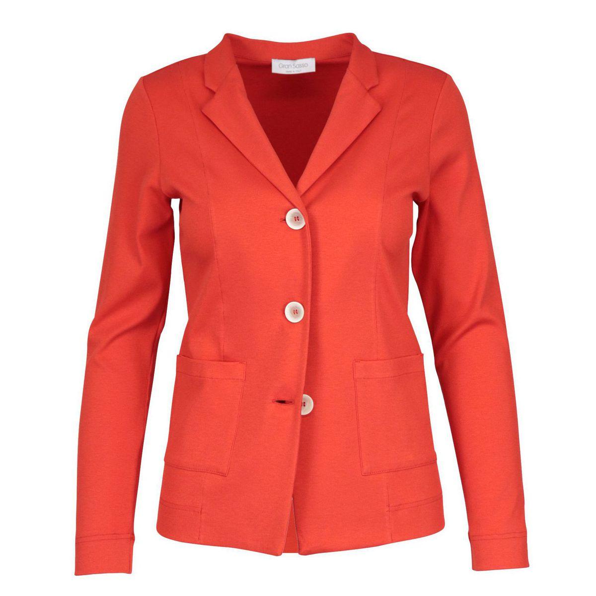 Three-button jacket in stretch cotton Orange Gran Sasso