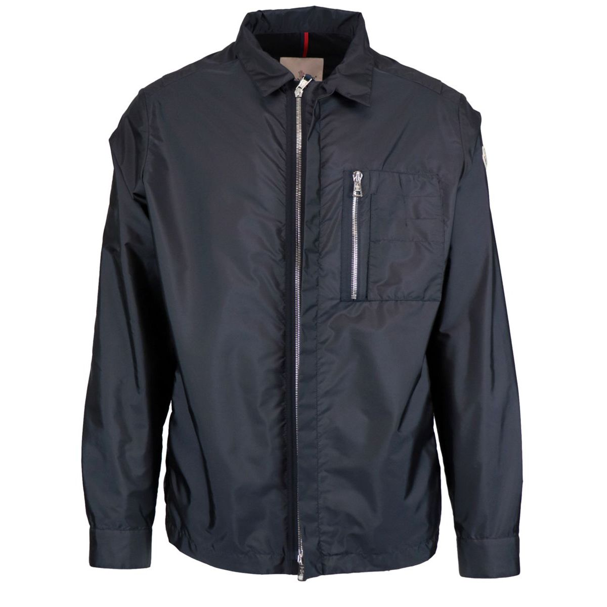 Nylon see jacket with zip Navy Moncler