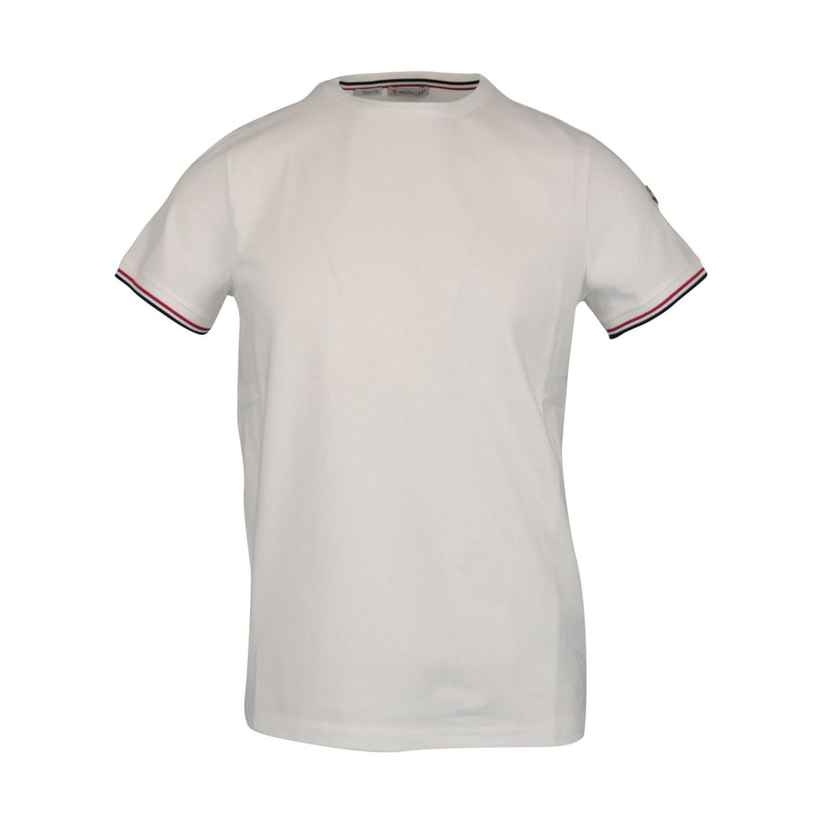 Stretch T-shirt with side logo White Moncler