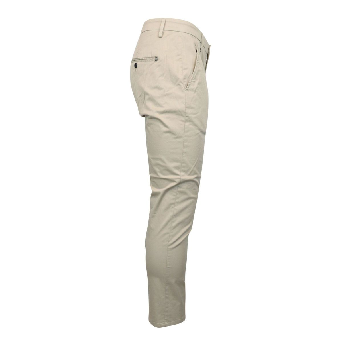 Slim Alfredo trousers in stretch cotton with america pocket Beige Dondup