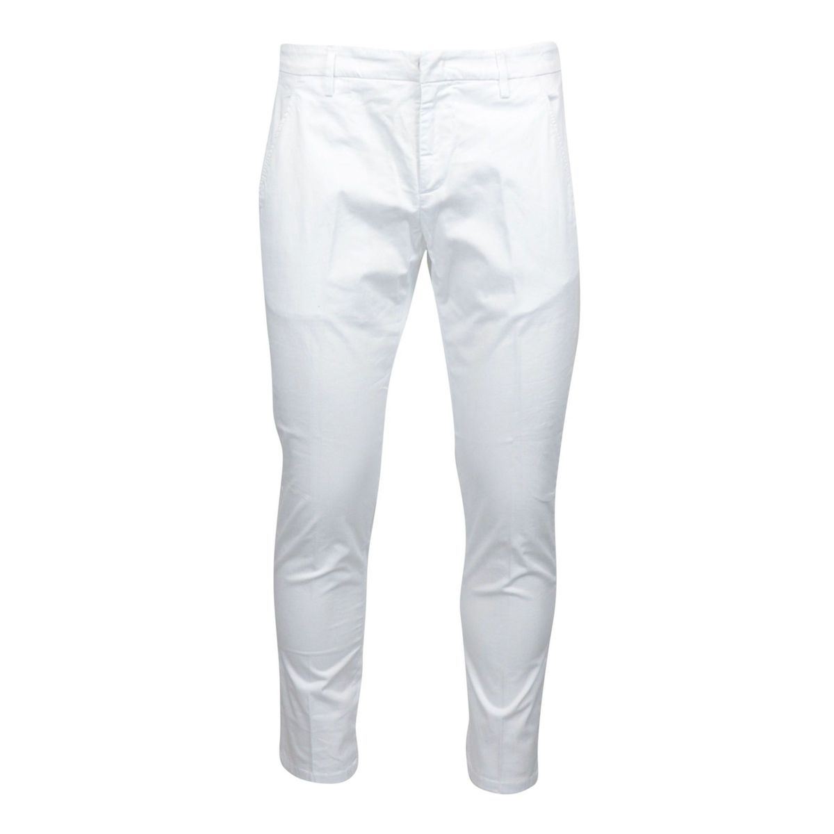 Slim Alfredo trousers in stretch cotton with america pocket White Dondup