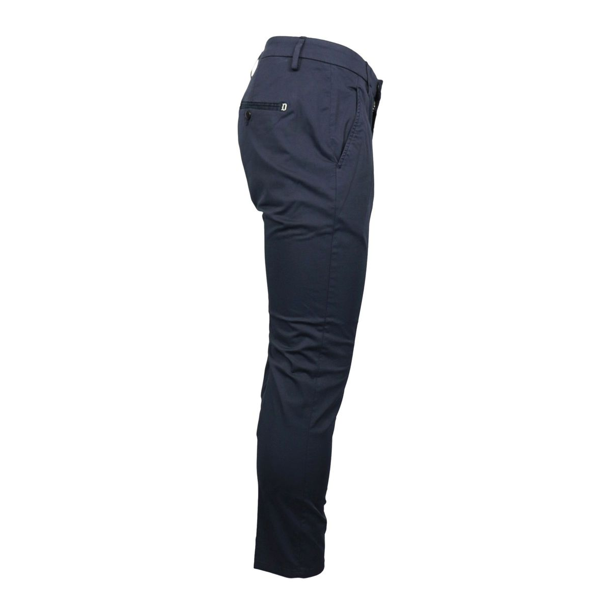 Slim Alfredo trousers in stretch cotton with america pocket Navy Dondup