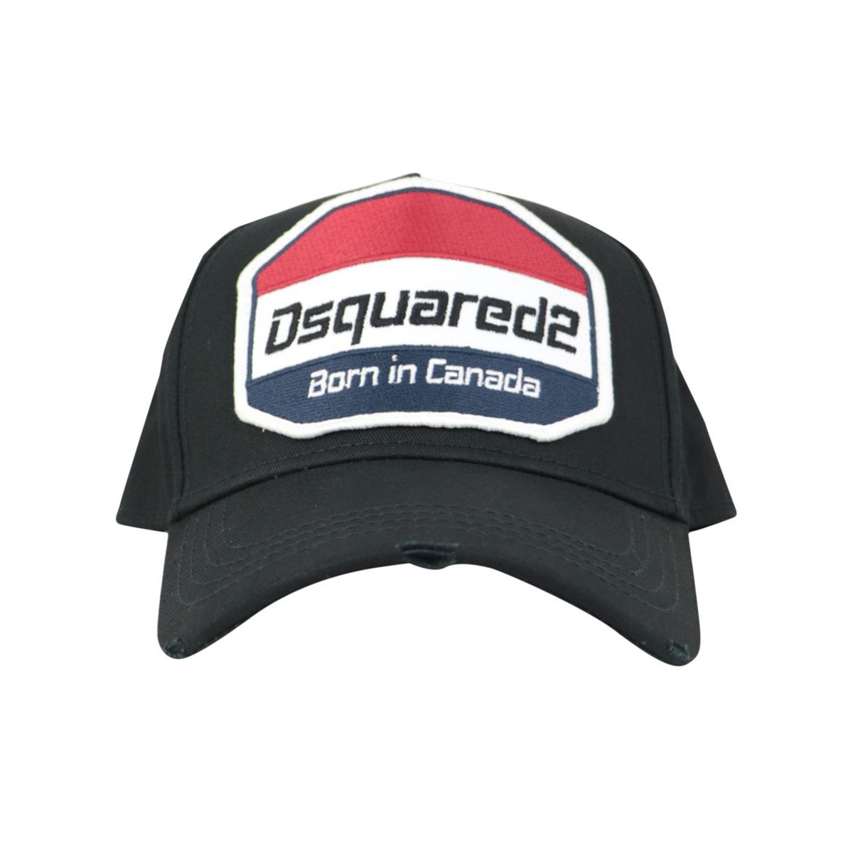 Cotton hat with visor and logo patch Black Dsquared2