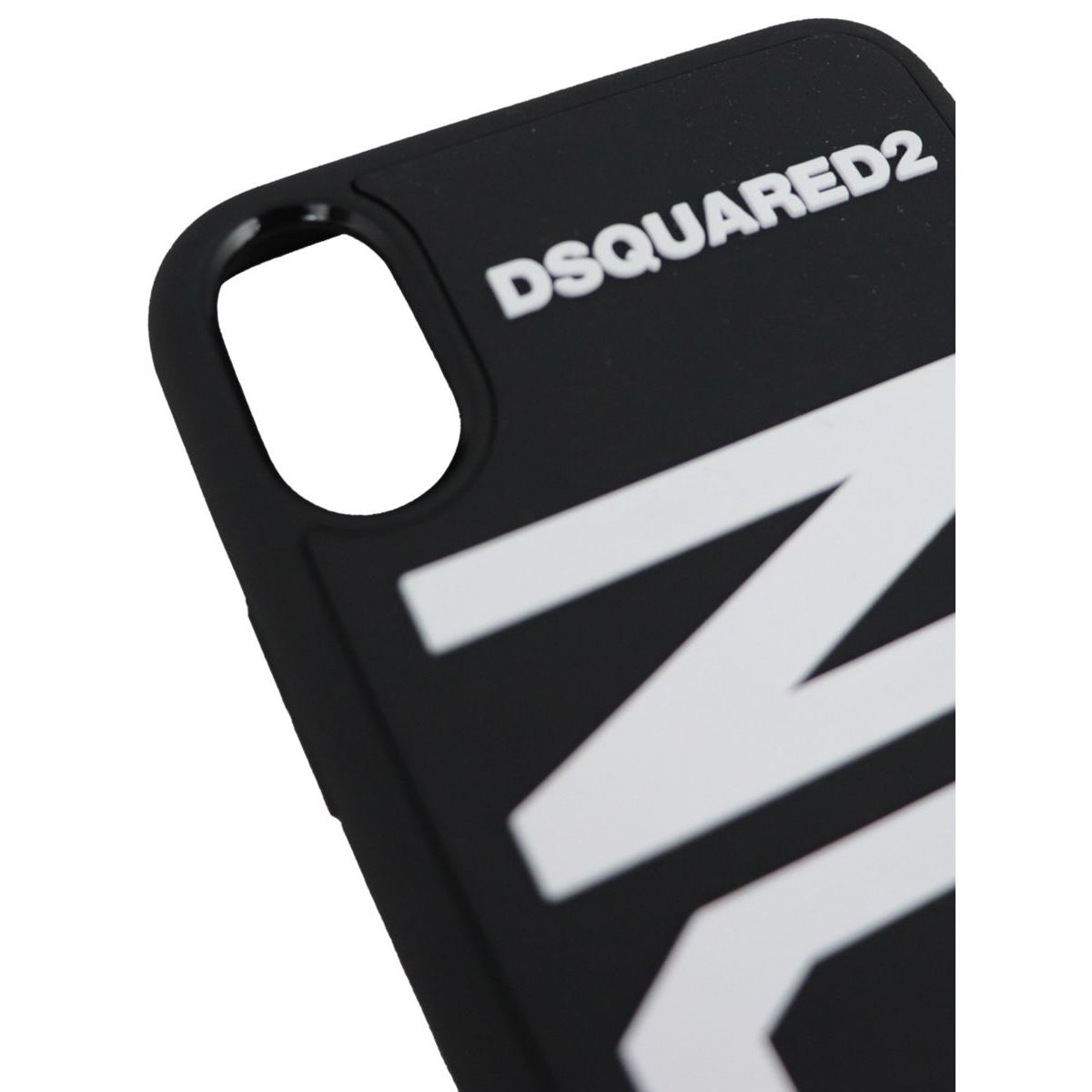 Iphone X cover with rubberized logo Black Dsquared2
