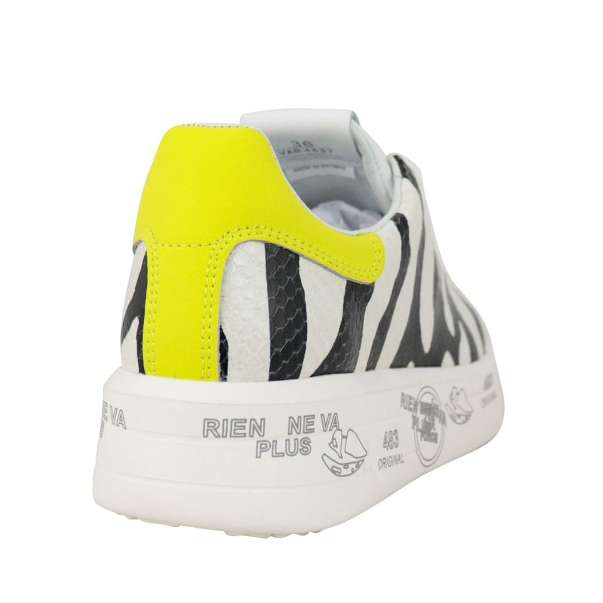 Belle sneakers in contrasting printed leather White black Premiata