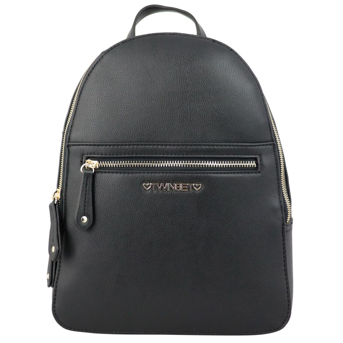 Faux leather backpack with logo Black Twin-Set