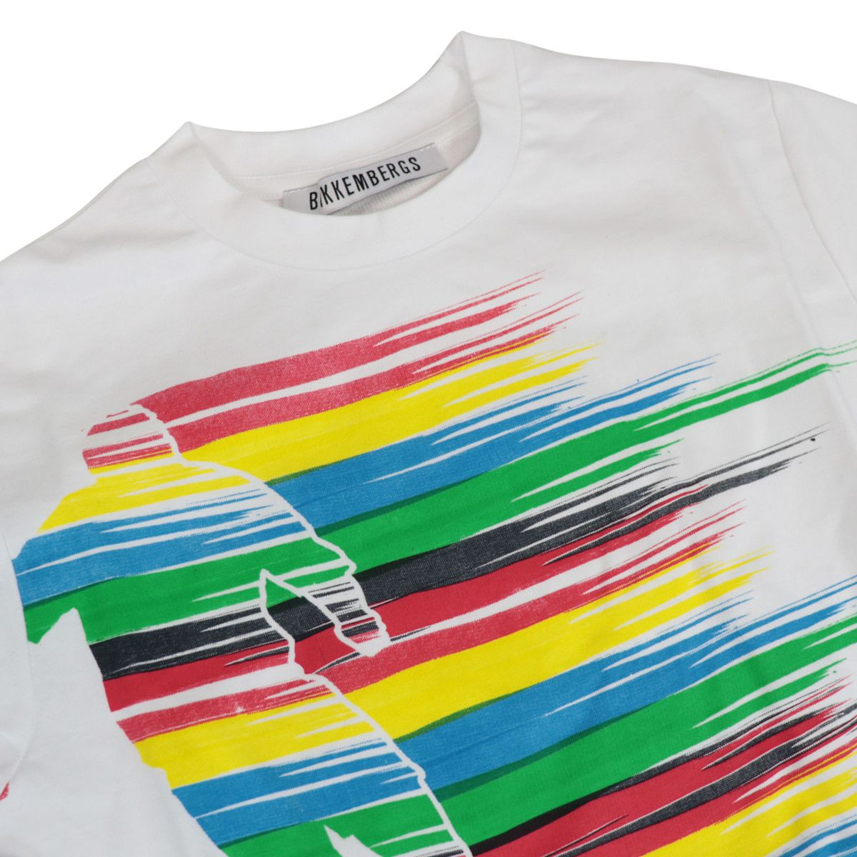 Long-sleeved cotton sweatshirt with multicolor print White Bikkembergs