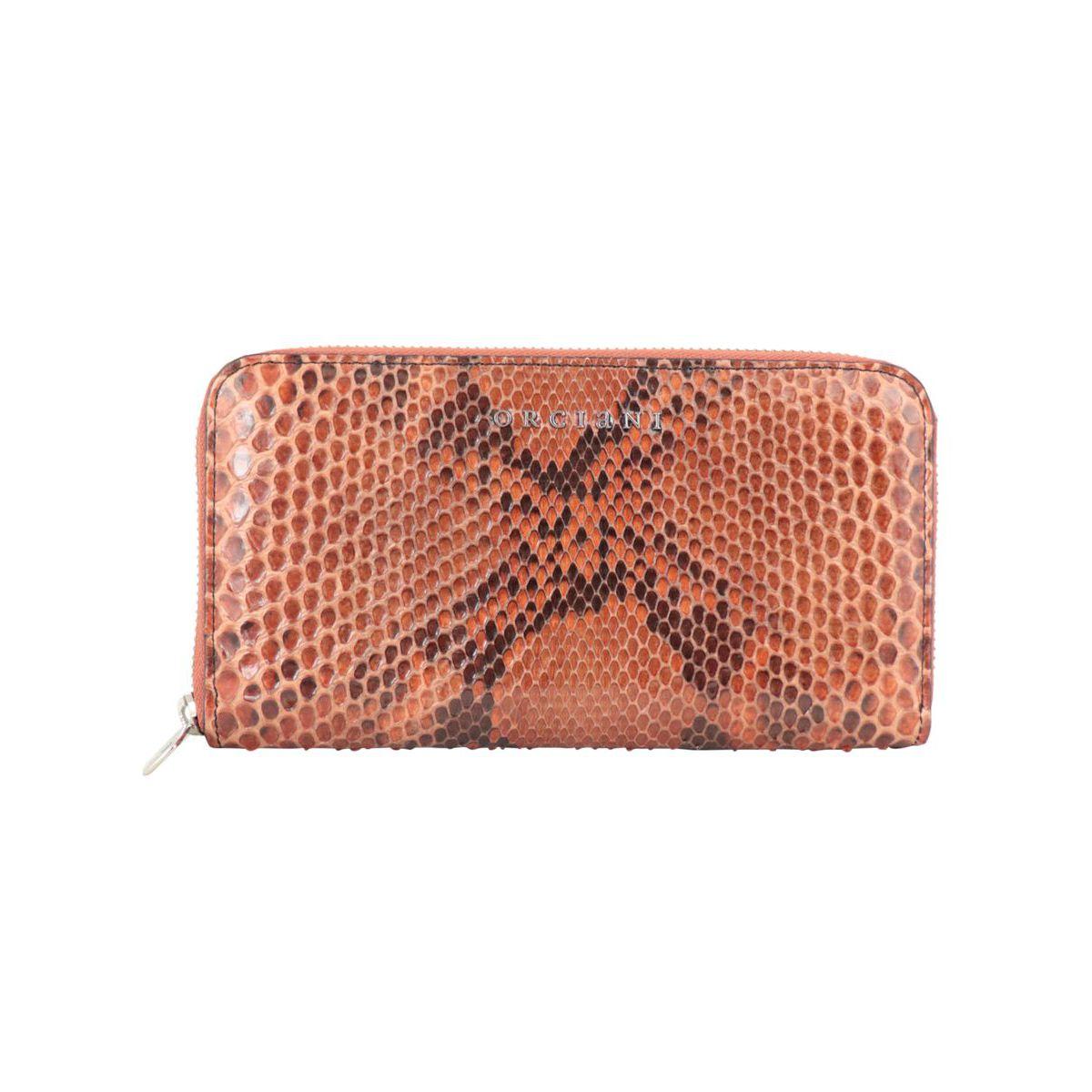 Diamond python wallet Orange Orciani