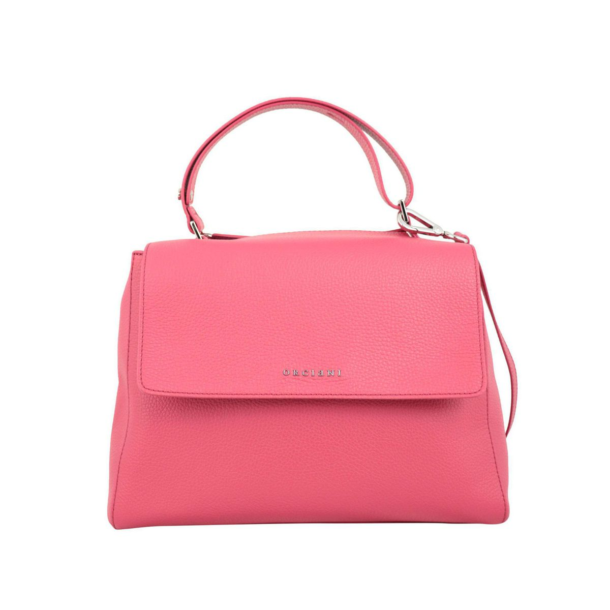 Sveva medium bag in Micron leather Strawberry Orciani