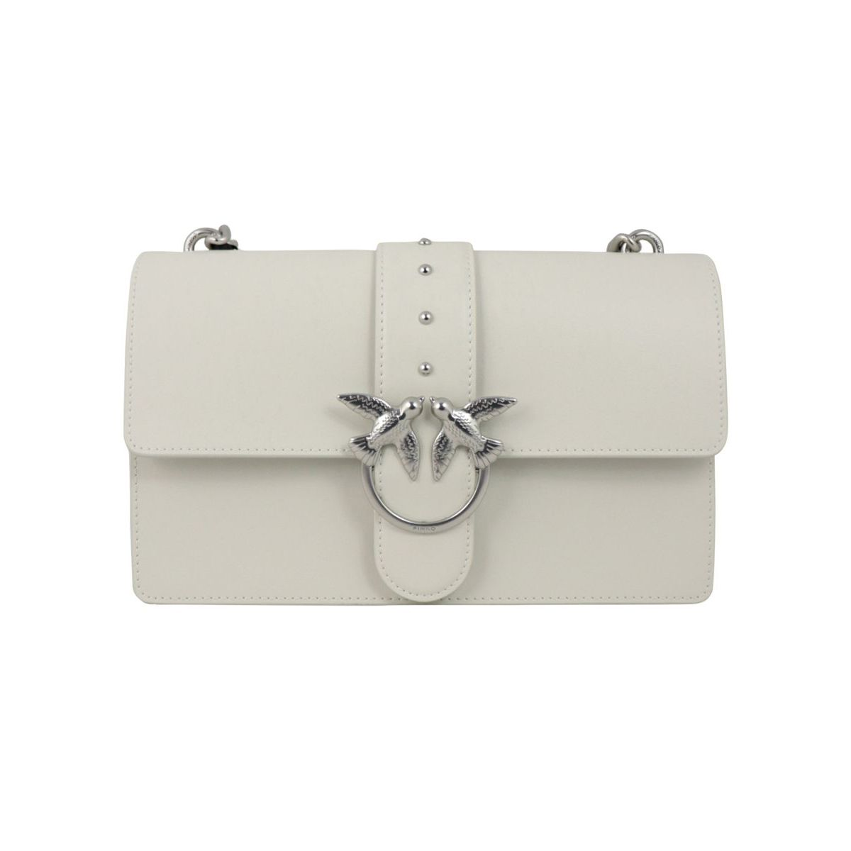 Love Classic Simply leather bag White Pinko