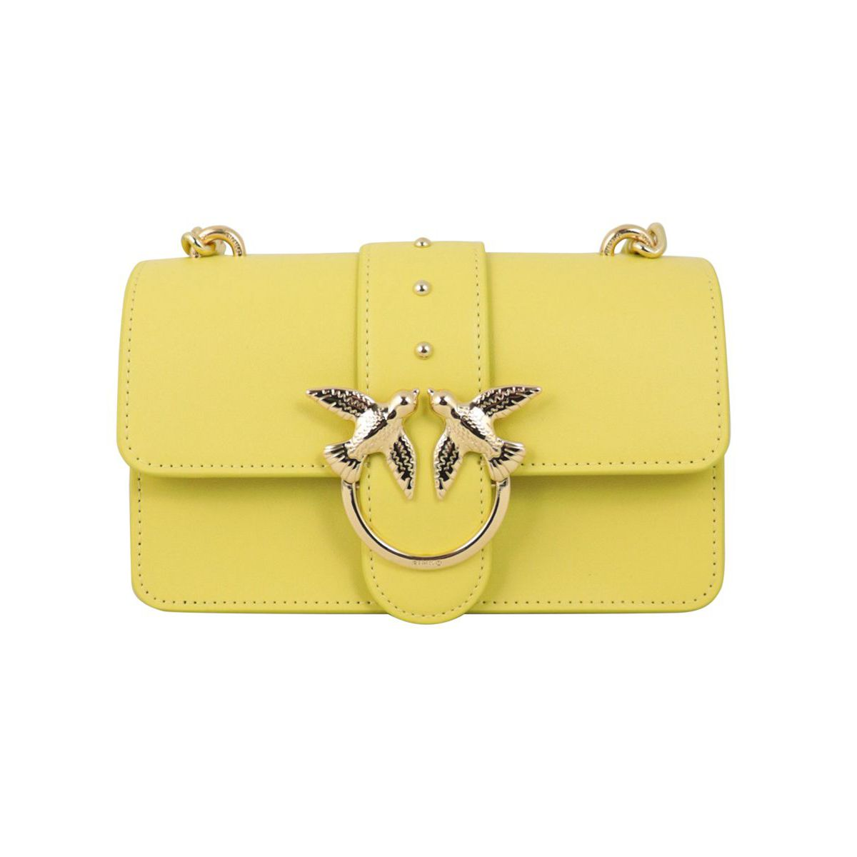 Love Mini Simply leather bag Yellow Pinko