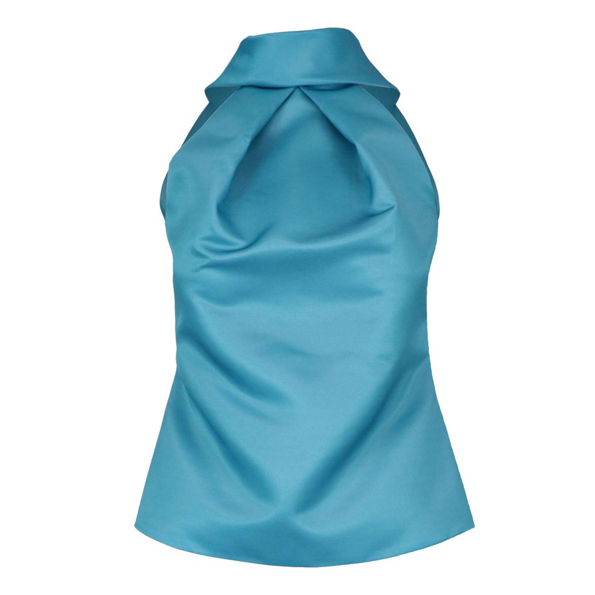 Top with American neckline in duchesse Light blue GIADA CURTI