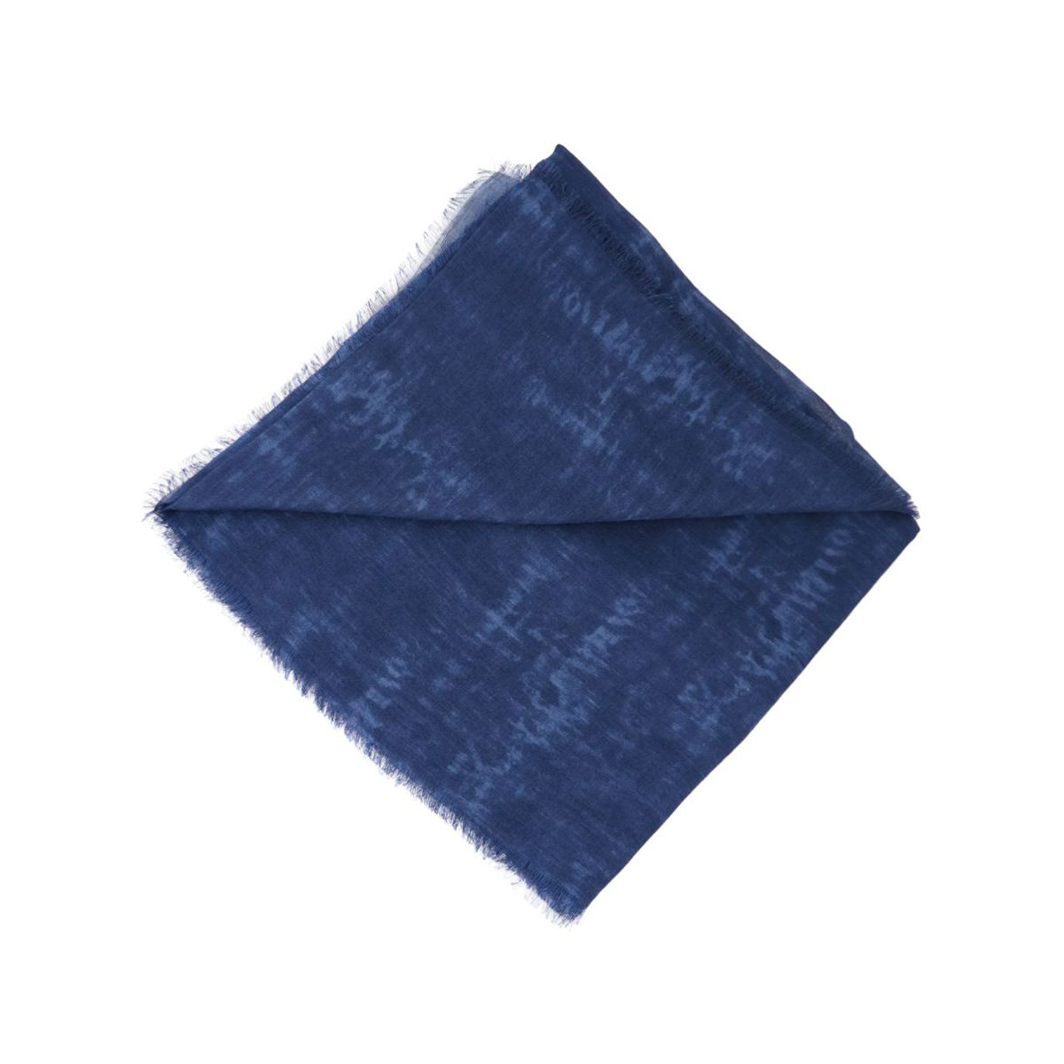 Faded effect modal and linen scarf Navy blue Altea