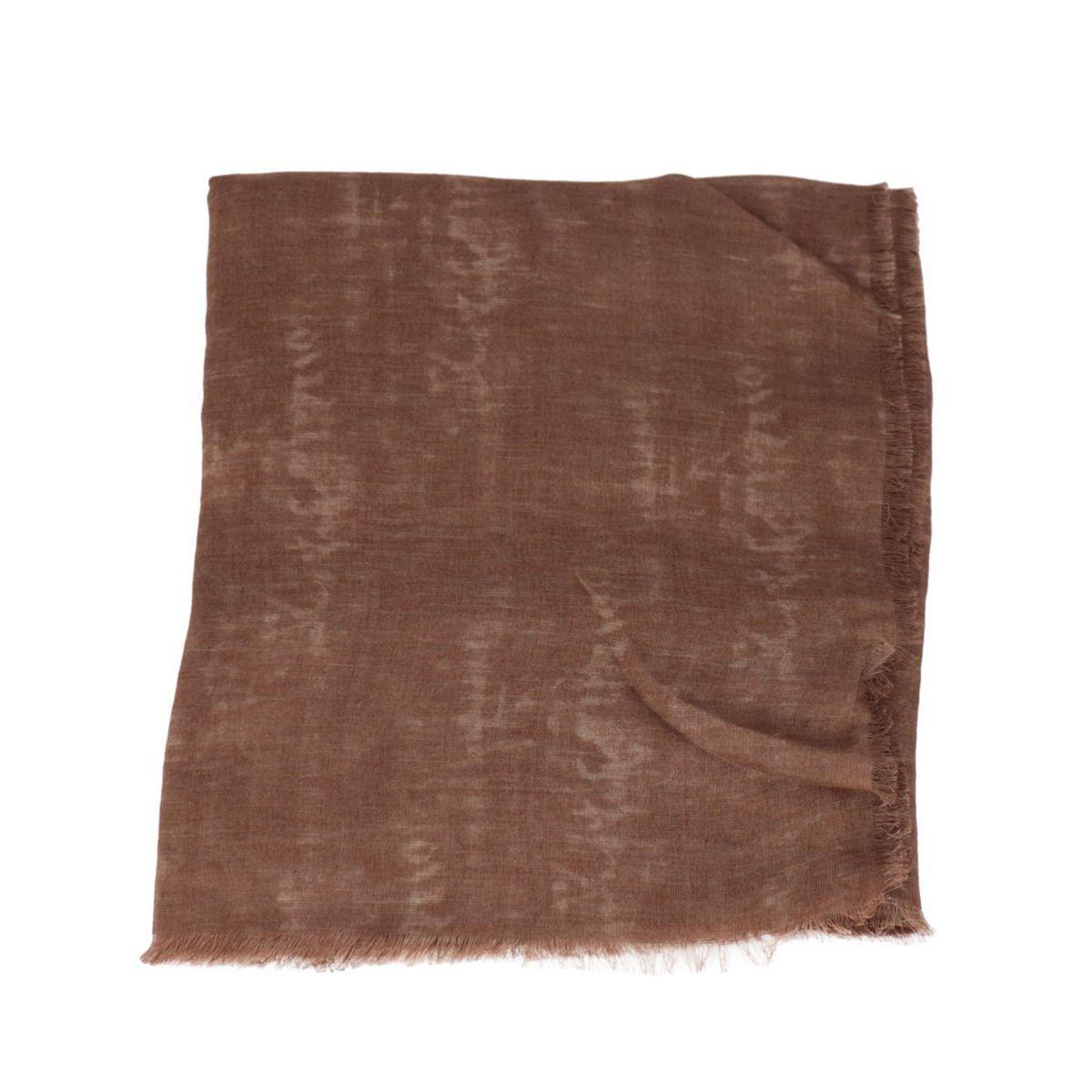 Faded effect modal and linen scarf Leather Altea