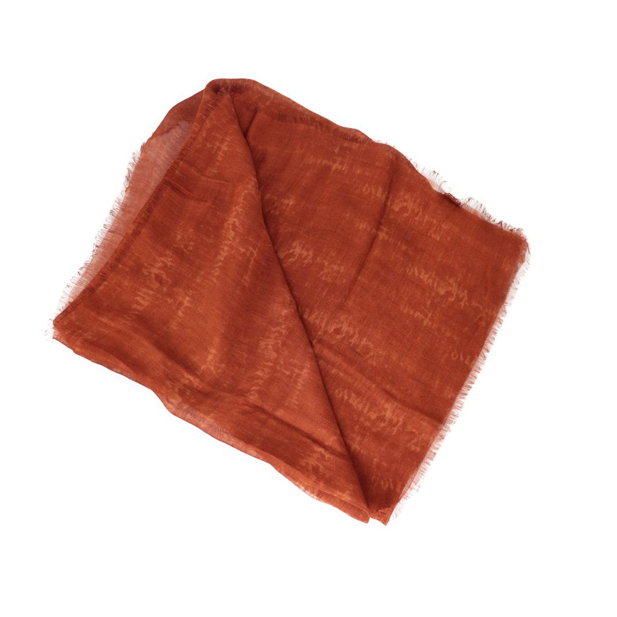 Faded effect modal and linen scarf Rust Altea