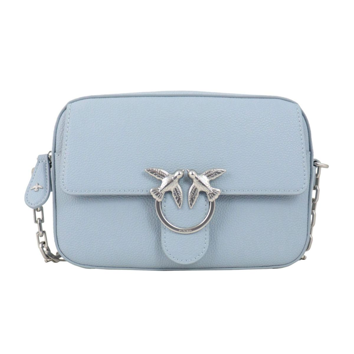 Love Square Simply bag in nappa leather Light blue Pinko