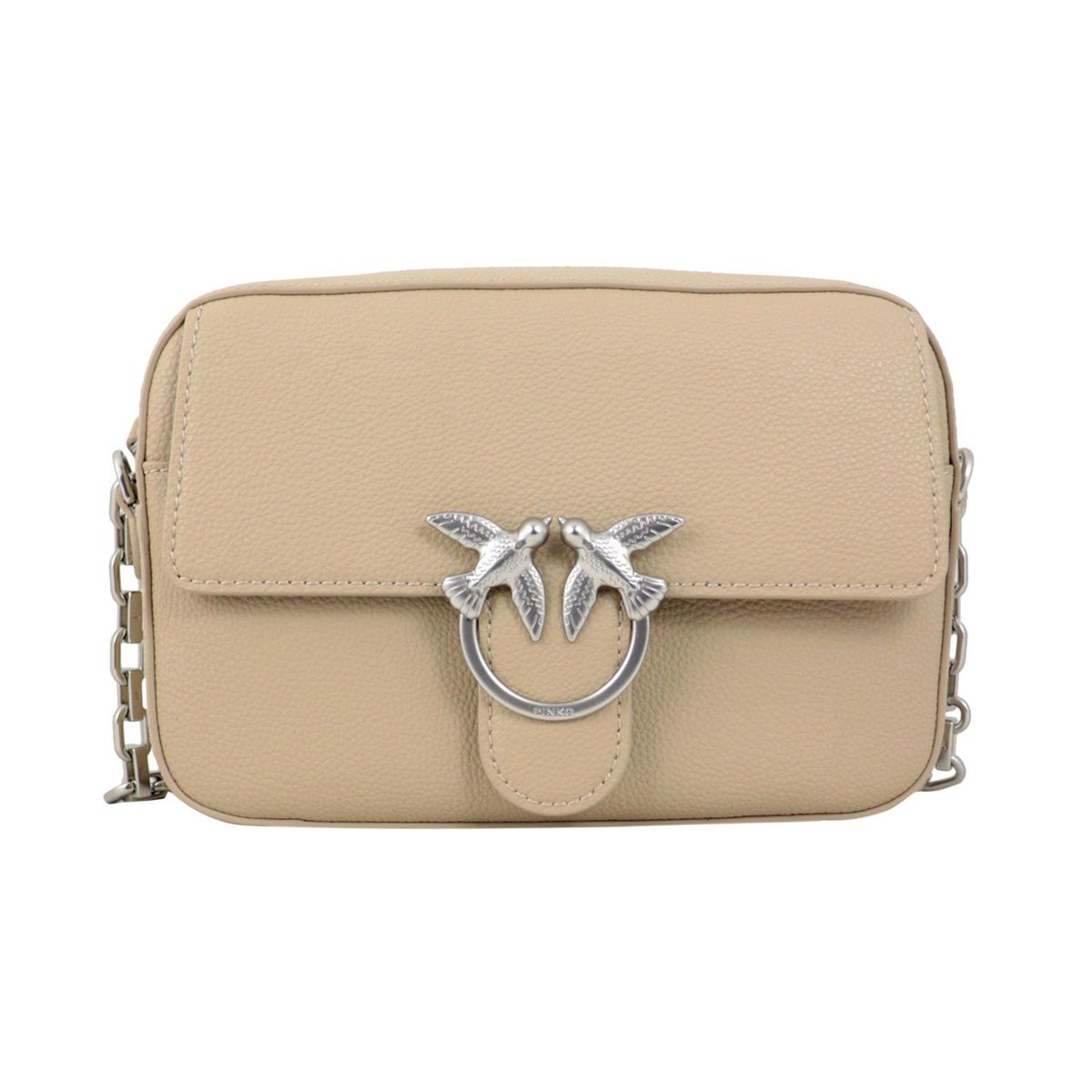 Love Square Simply bag in nappa leather Beige Pinko