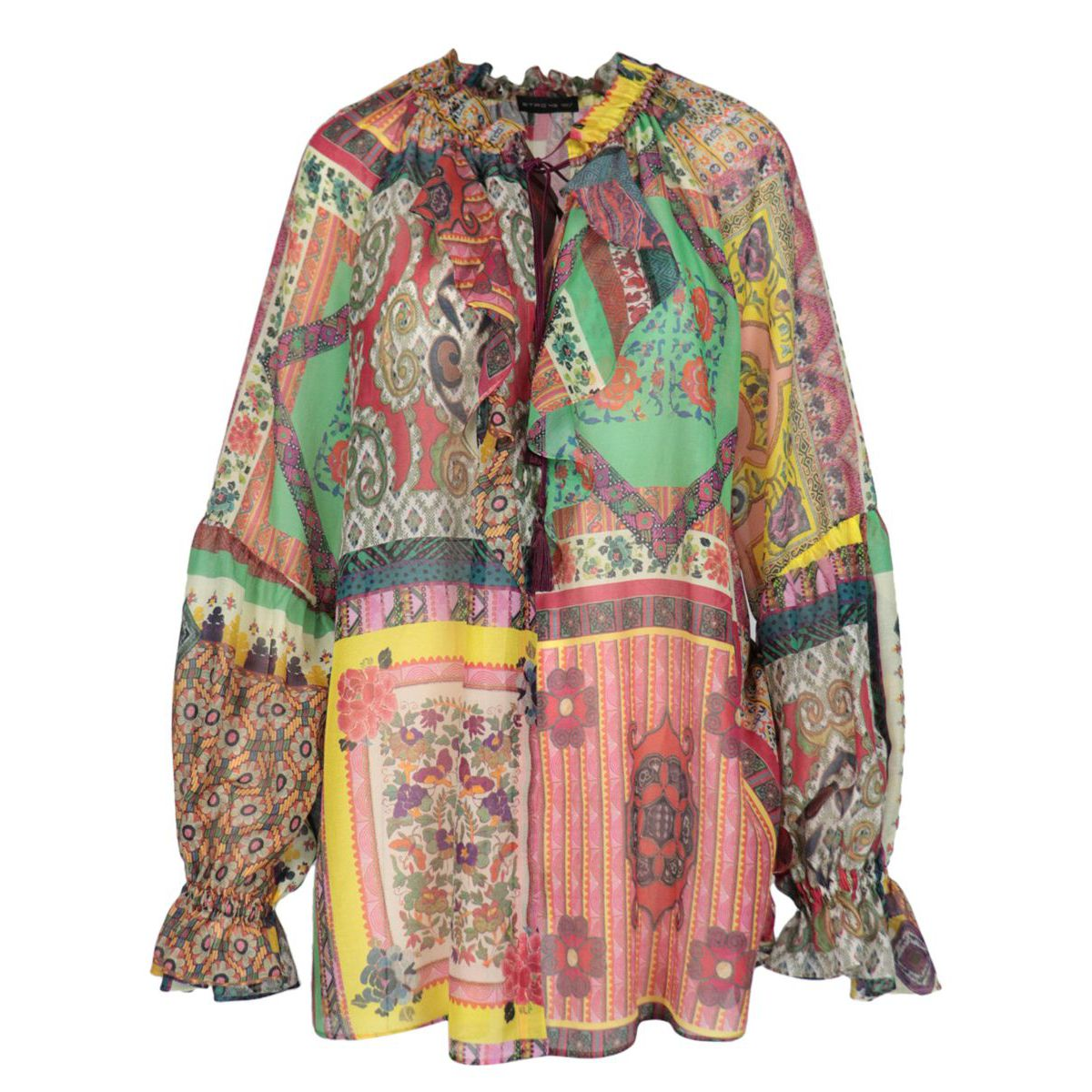 Camelia shirt in patterned cotton and silk Fantasy Etro