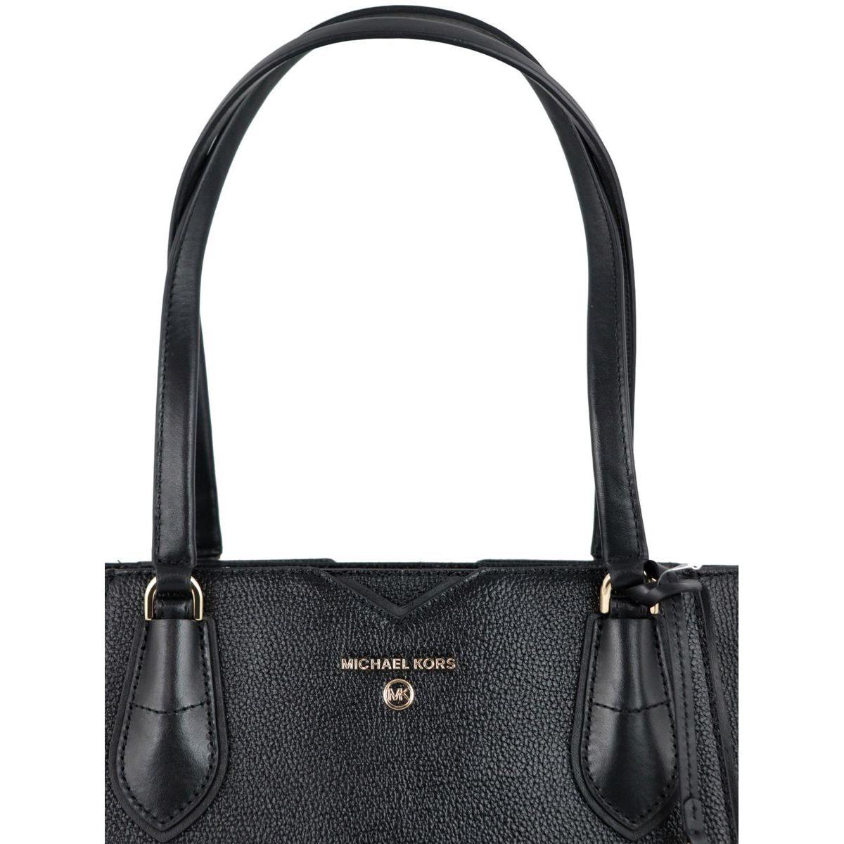 Medium Mae tote bag in grained leather Black Michael Kors