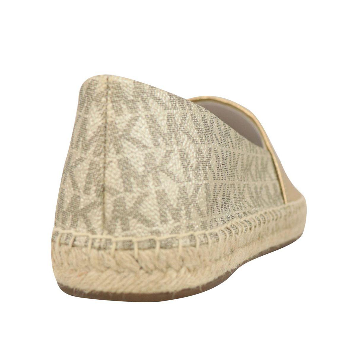 Dylyn monogram leather espadrilles Gold Michael Kors