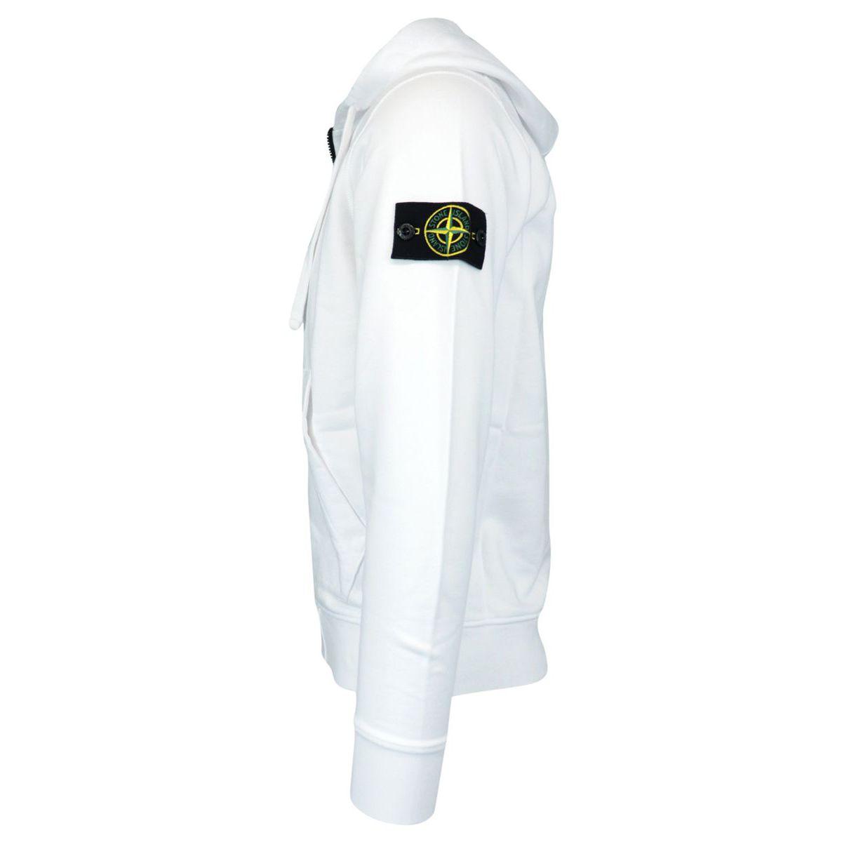 Cotton hoodie White Stone Island