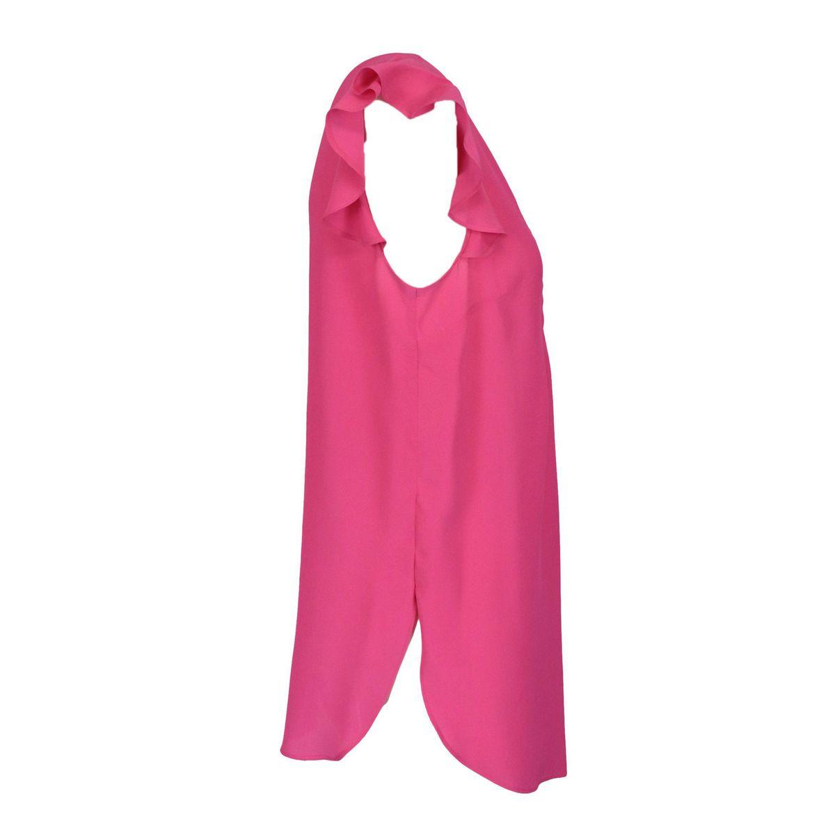 Blusa in misto seta con giro manica volant Fuxia Twin-Set