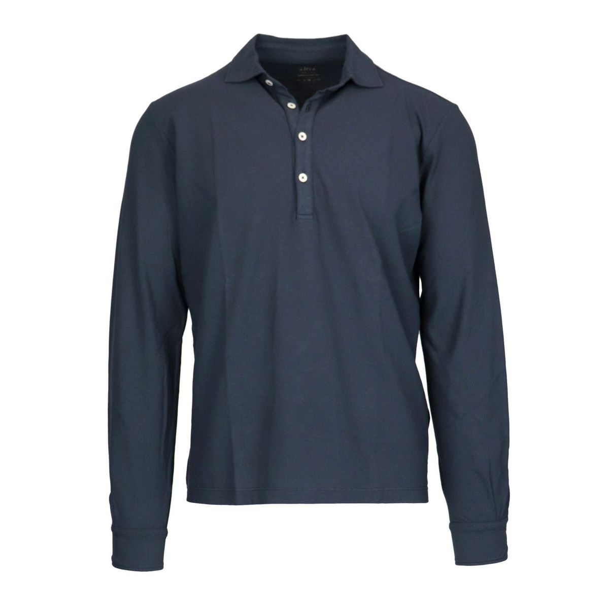 Glacial long-sleeved cotton polo shirt Navy Altea
